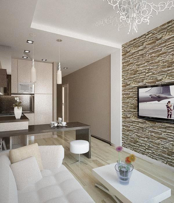 Пример дизайн проект однокомнатной квартиры